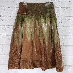 Calvin Klein Jean's tie dye skirt green brown